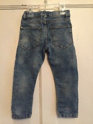 Boys Blue Dirty Vintage Skinny Denim Jeans from Next Age 3 years 4