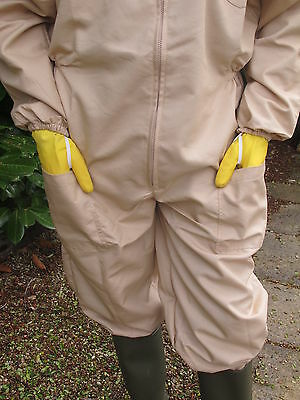 PREMIUM QUALITY Bee Suit Fencing Veil Style - Camel/Biscuit. All Sizes 3