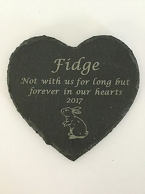 Personalised Engraved Slate Stone Heart Pet Memorial Grave Marker Plaque Dog 4