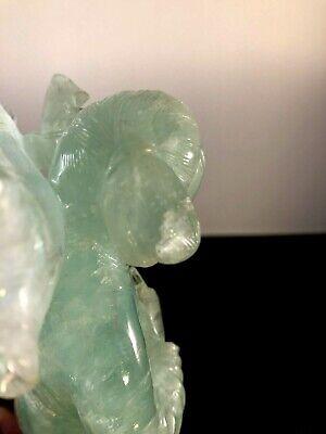 Antique Chinese Green Quartz Figurine 10
