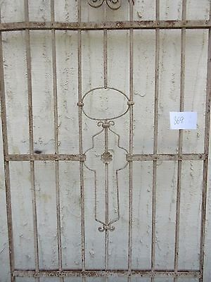 Antique Victorian Iron Gate Window Garden Fence Architectural Salvage #869 3