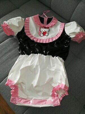 Adult Baby Body Spreizbody Windelbody DIAPER SPREIZHOSE PVC LACK HALLO KITTY XL 3