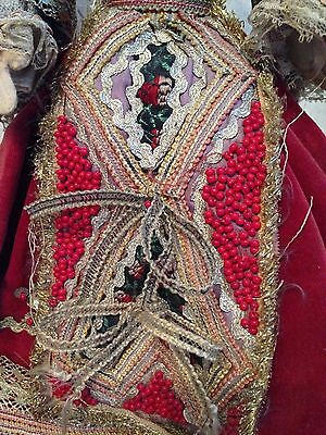 "Antique European Mediterranean Greek Doll - Silk Cloth Face - 14.5"" Tall 6"