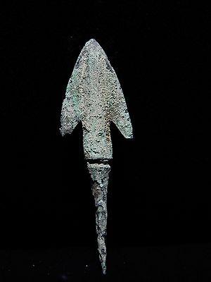 "Zurqieh - Ah28- Over 3000 Years Old Bronze Long Arrow Head - 1200 B.c , 2 1/2 "" 2"