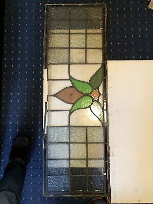 Vintage Original Leaded Glass / Stained Glass Window Pane 2