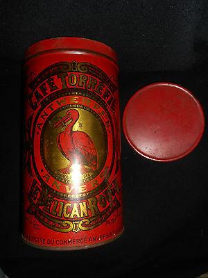 Le Pelican Rouge Cafe Torrefie Kaffeedose ca. 1920 aus Sammlungsauflösung 2