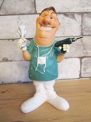 Zahnarzt mit Bohrer Dentist Funny Beruf Figur Profession 19 cm Neu 2