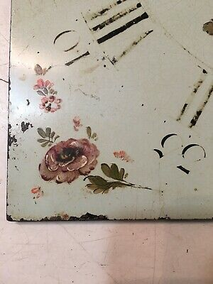 Antique Grandfather Clock Dial Painted Strawberries & Flowers Hanson Yaxley 6