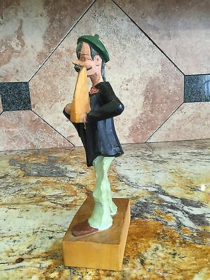 Vintage Cuckoo Clock Style Hand Painted Carved Wood Figure Steinbach German Folk 6