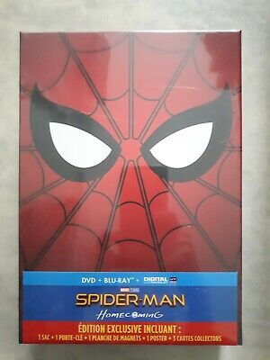 NEW EDITION EXCLUSIVE LIMITED SPIDER-MAN HOMECOMING dvd boy ray poster goodies 2