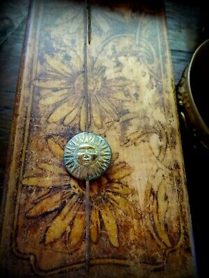 A Unique and Rare Continental Mantel Clock Pendulum Brass Sun Face Antique 10