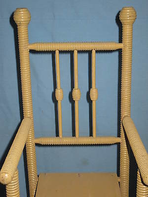 ANTIQUE DOLL HIGH CHAIR w/FOOT REST SPOOL TURNINGS BEEHIVE FINIALS ORIGINAL 5