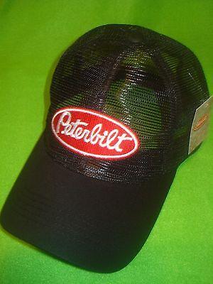 ... Peterbilt Hat  Black All Mesh Summer Trucker s Cap Free Shipping ... 4b62dbf8375a