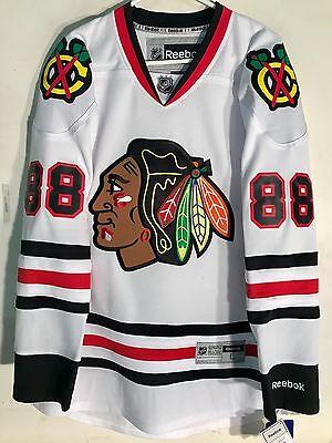 907d180cf 1 of 2 Reebok Premier NHL Jersey Chicago Blackhawks Patrick Kane White sz S
