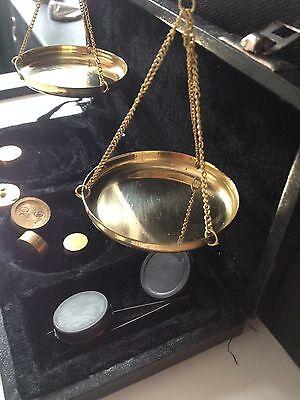 Feinwaage Goldwaage antik Anfang 19. Jahrhundert 9