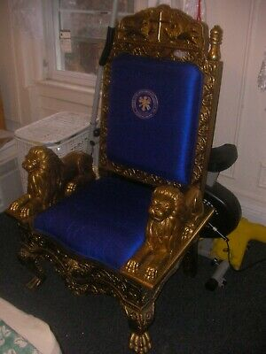 Royal/Religious Gold Throne For Staging, Sets, Photo Shoots, Etc. 3
