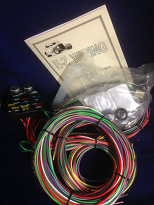 12 CIRCUIT EZ Wiring Harness Chevy Mopar Ford Street Hot Rod with ...