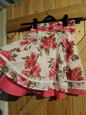"""Girls Skirt By Next Pink Rose Age 5 Years Height 110 cm Waist 20"""" Length 16"""" 2"""