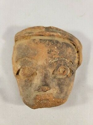 Beautiful Antique Small Pre-Colombian Face Motif 2