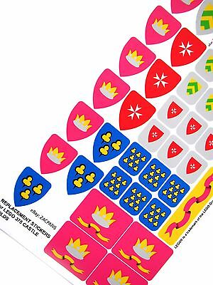 Build a Knights Army! ETC CUSTOMISED STICKERS for Lego 6016 6083 CASTLE BUILDS
