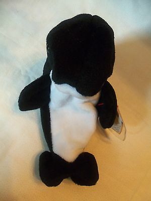 TY Beanie Babies Killer Whale ** WAVES ** 5th Generation New w/ Tag