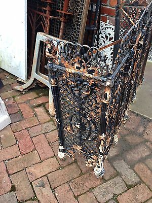 One Matched Pair Very Ornate Cast-Iron Radiator Covers Antique 9