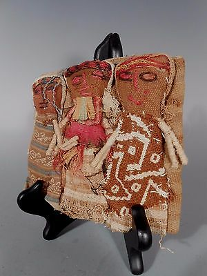 Peru Peruvian Central Coast Chancay Fabric Cotton Burial Dolls  #2 6