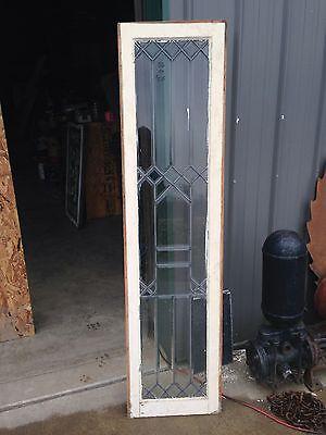 Antique Beveled Glass Sidelight Window Sj 20 2