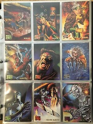 151 NM//M Base Set 1995 Marvel Masterpieces Complete