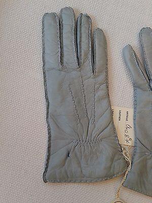 Guanti Donna in pelle col. carta da zucchero tg 6 Gloves Originali Lusso 8