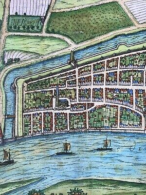 Old Antique Historic Map Bremen, Germany: 1598 Braun & Hogenberg REPRINT 1500's 6