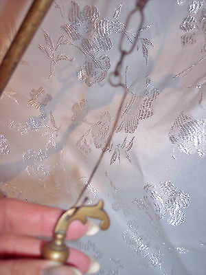 "Antique 19C Italian Brass ""Lucerna"" Table Oil Lamp w/Snuffer & Tweezers, H 20.5"" 9"