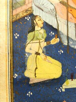 18Th-19Th C Antique Mughal (India) Miniature Illuminated Manuscript Opaque W/C 11