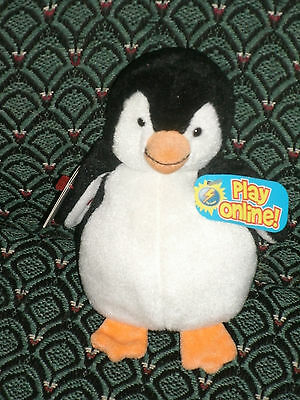 """TY CHILL THE 2.0 BEANIE PENGUIN - 6"""" Tall - UNUSED CODE- 2008 - MWMT"""