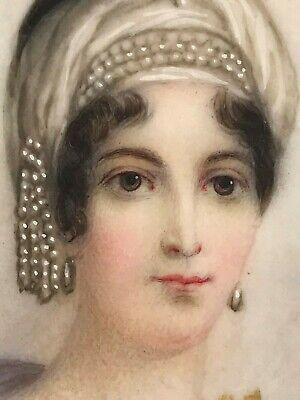 Miniatur Gemälde Brustporträt Maria Laetitia Ramolino Mutter Napoleon Resch~1780 3