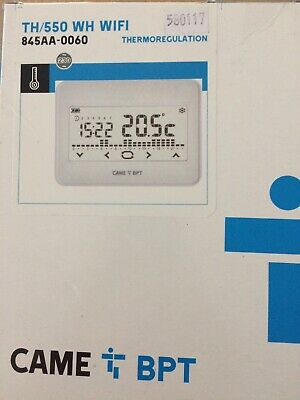 BPT TH/550 WH WIFI Cronotermostato touchscreen wi-fi da parete,845AA-0060 BIANCO 2