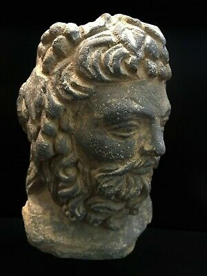 Lovely Authentic 3-4th Century A.D. Gandhara 犍陀罗 Vajrapani greek Head 8