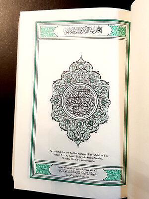 The Holy Quran  Koran. Arabic Text, Spanish Translation. King Fahad  Printing In 2