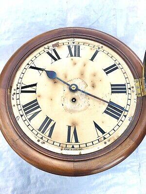"Antique 12"" Fusee Mahogany Wall Clock 4"