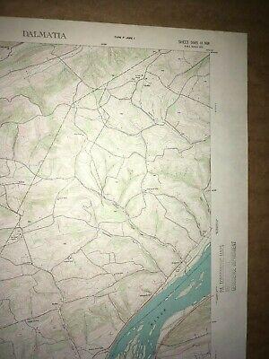 Dalmatia Pa. Northumberland USGS Topographical Geological Survey Quadrangle Map 3