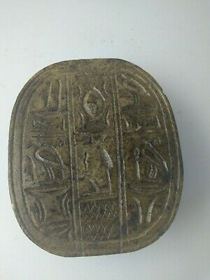 RARE ANTIQUE ANCIENT EGYPTIAN Scarab Beetle Key of Life Stone 1650 Bc 2