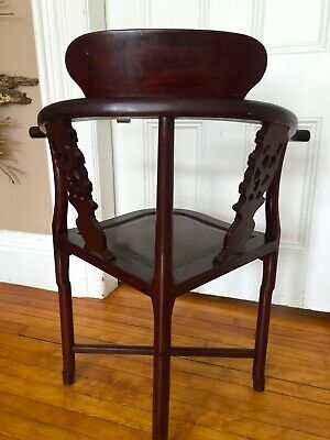Antique Chinese Rosewood Hand Made Corner Chair 5