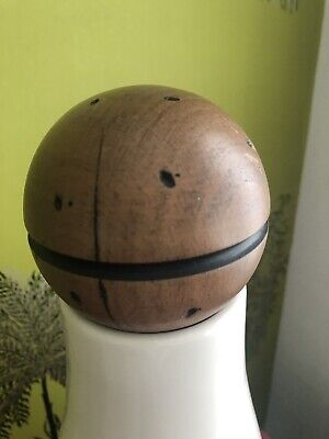 NEW LARGE SOLID WOOD BALL FINIAL KNOWLE NEWEL POST 8mm M8 Distressed Look 3