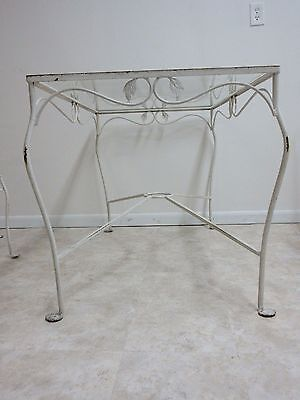 Vintage Iron Outdoor Patio Salterini Dining Table 4 Chairs Porch