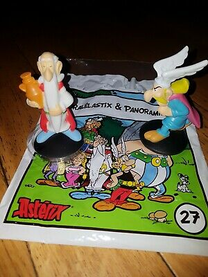 n°27 - 2 figurines Astérix Mc DO 2019 Moralélastix & Panoramix - NEUF s/ blister 2