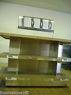 ... 3 Tier Shelf Merchandiser Jeans Display Table Retail Display Shelving  Unit