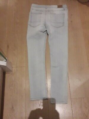 Boys River Island Skinny  DistressedEffect Light Blue Jeans Age 12. 6