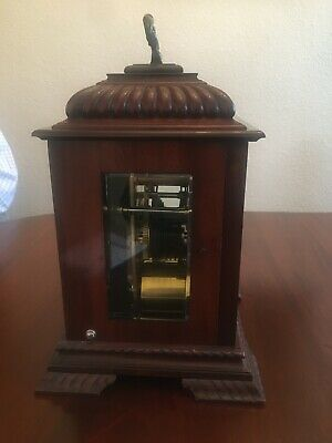 Mahogany bracket clock, fine quality Englishdouble fusée movement 6
