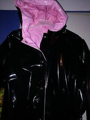 ZWEISEITLICH 2in1 PVC Regencape Lack Gummimantel Raincoat Regenmantel Vintage 11