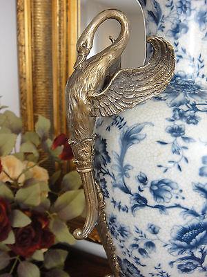 Porzellan Bronze Blumenvase Jugendstil Luxus Prunk Vase Antik Edel Pokal Amphore 4
